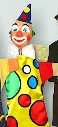 GiScha Kasperlefigur Clown 35cm