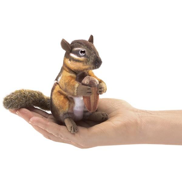 Streifenhörnchen mit Eichel Fingerpuppe