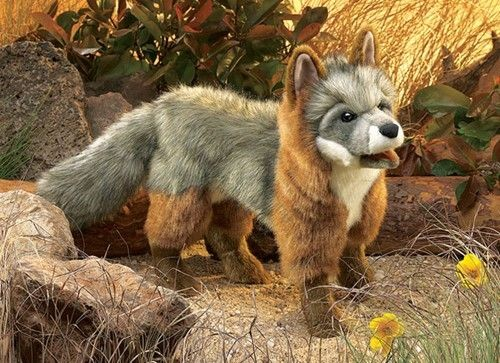 Folkmanis Handpuppe grauer Fuchs