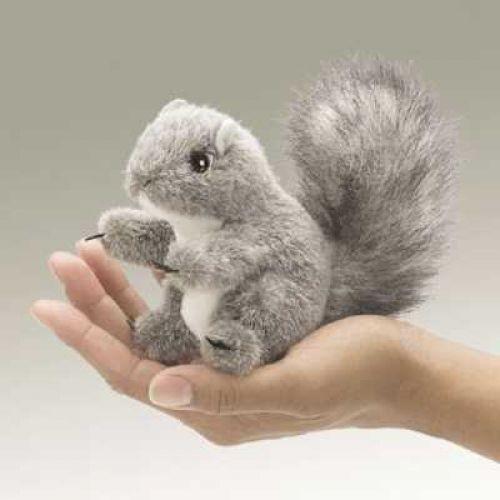 Folkmanis Fingerpuppe Mini Eichhörnchen grau