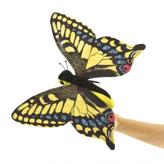 Folkmanis Handpuppe Schwalbenschwanz Schmetterling