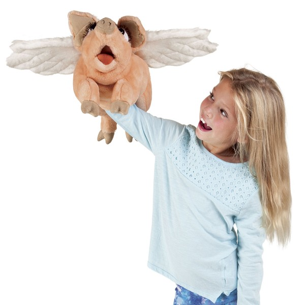 Folkmanis Handpuppe Schwein mit Flügeln / Flying Pig